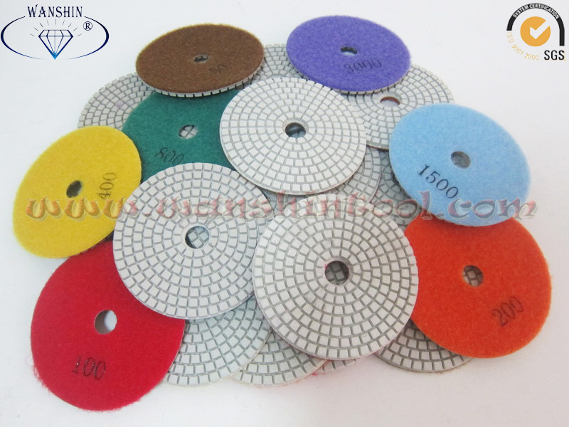 White Polishing Pad for Engineered Stone