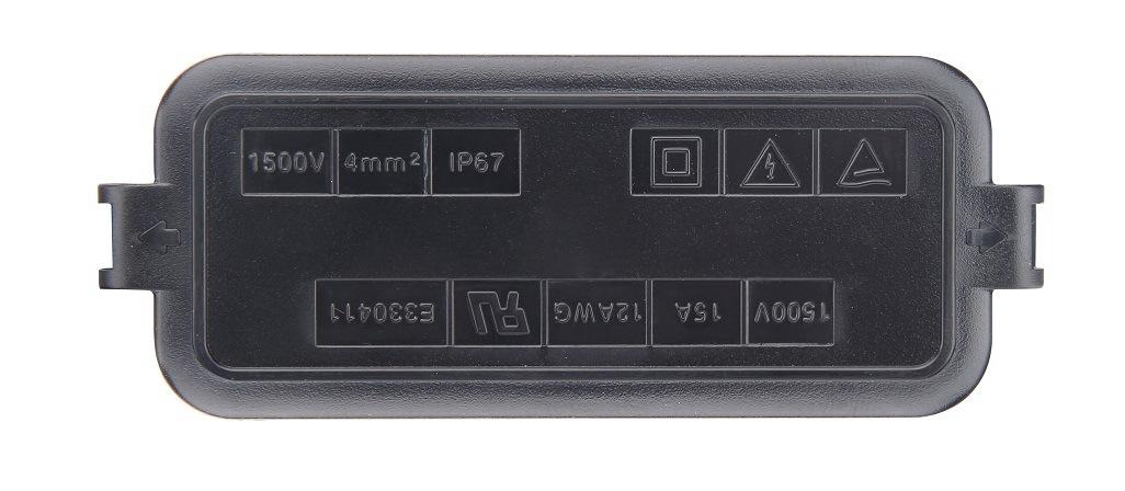 PV-Cy1501 1500V 13.5-15A Soldering Potting Soalr PV Waterproof Junction Box
