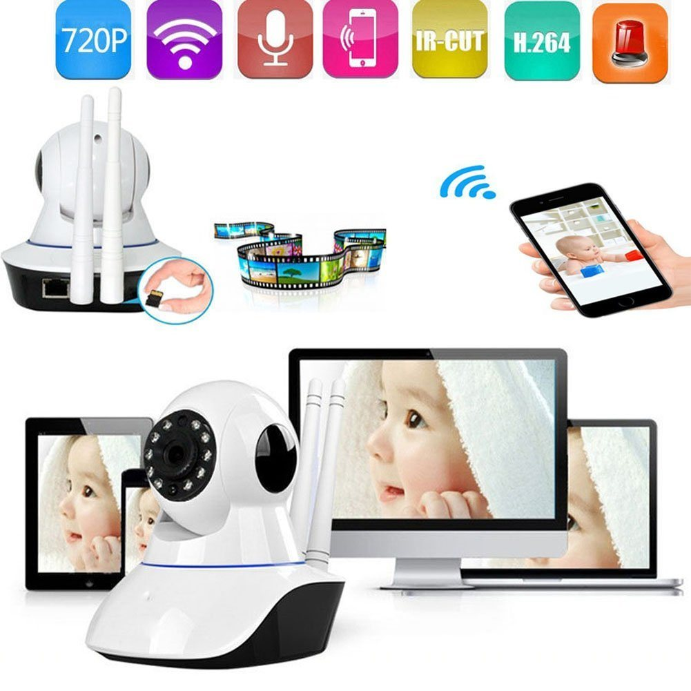 Smart Home Security System with Door/Window Sensor and Smart Remote Control Wireless WiFi IP Camera