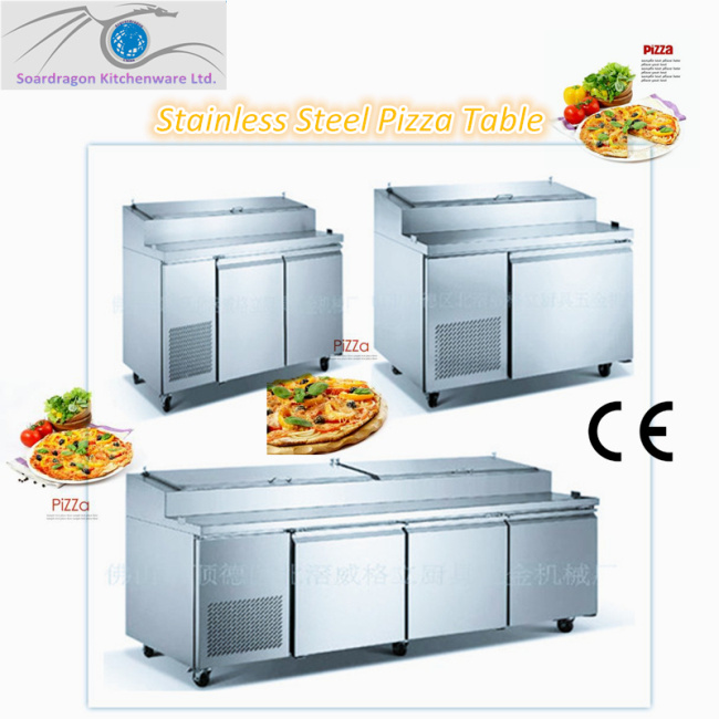 3 Doors Pizza Fridge with Working Bench