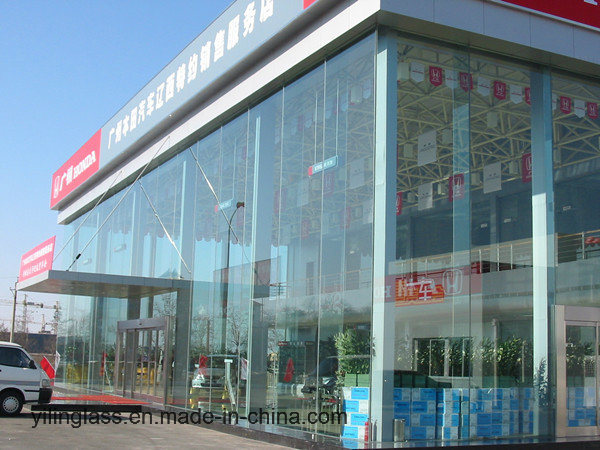 Big Size Tempered Laminated Glass with Color Pattern