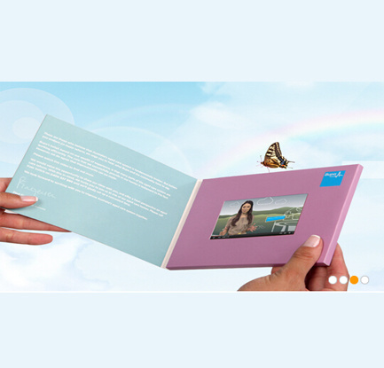 Promotional LCD Screen Video Brochure Greeting Card