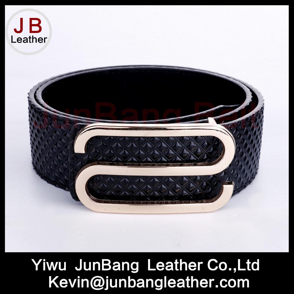 Latest Fashion Fall Season Women Embossing PU Leather Belt