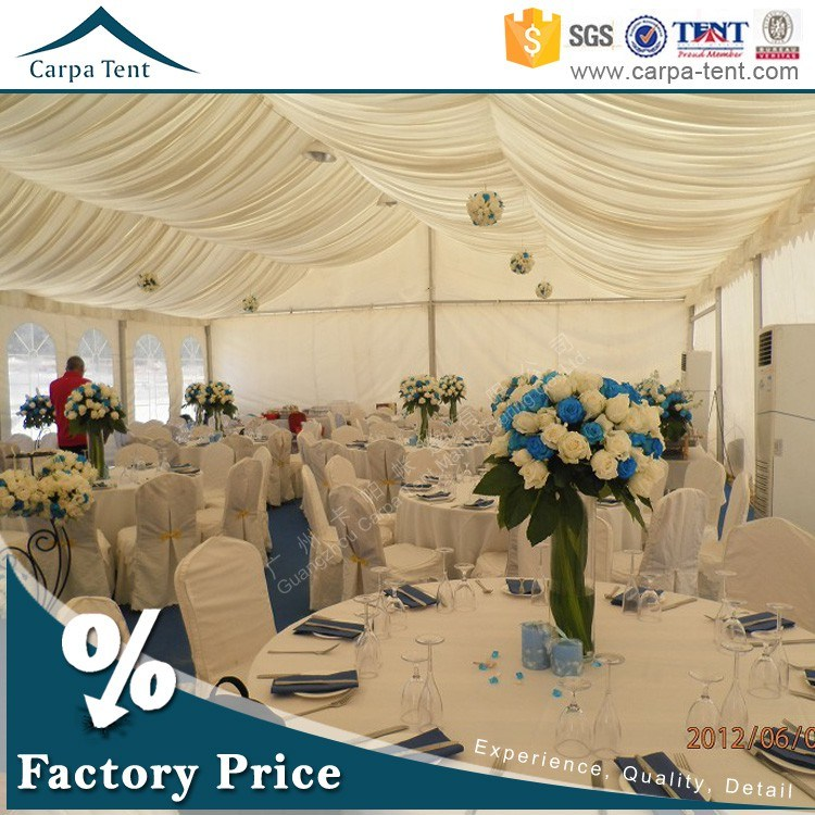 Width 5m White Celebration Wedding Party Tent with Colorful Lingings