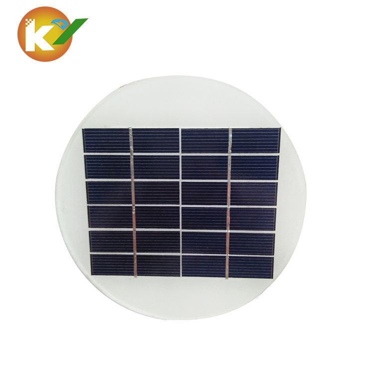 1.5W/6V Round Polycrystaline Solar Panel with Hight Quality for Safe Light