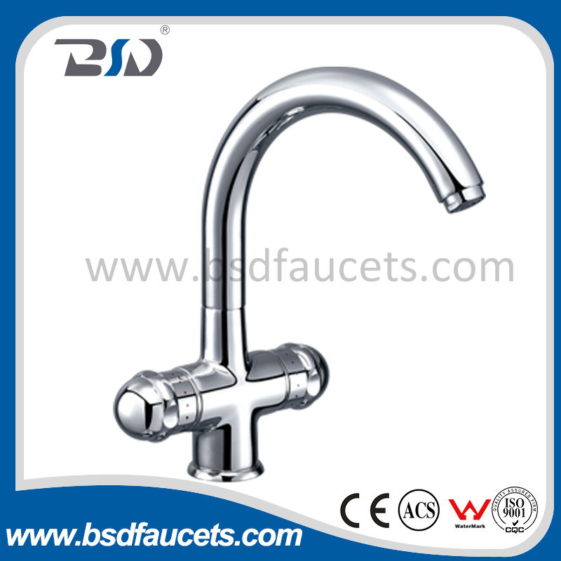 Gooseneck Dual Handle Surface Mounted Sink Faucets