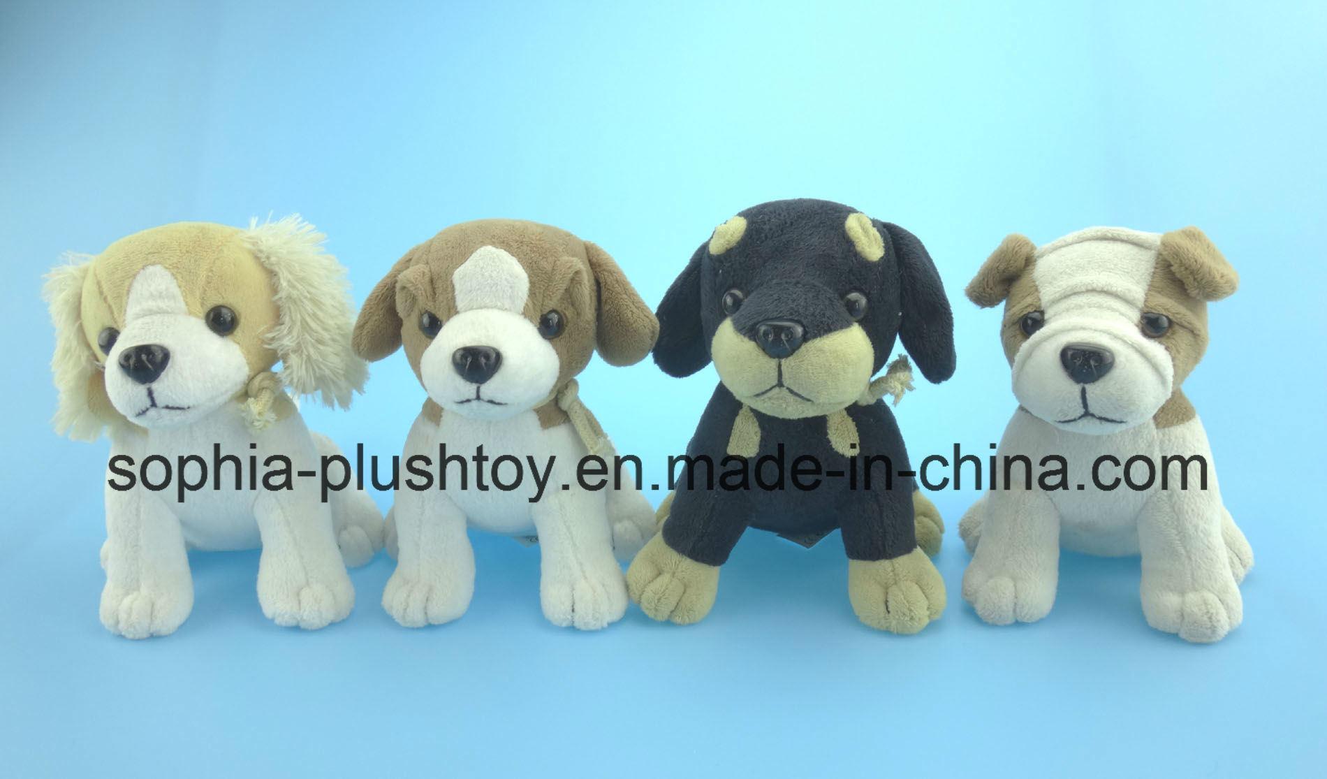 Soft Stuffed Plush Dog Toy 4 Asst.