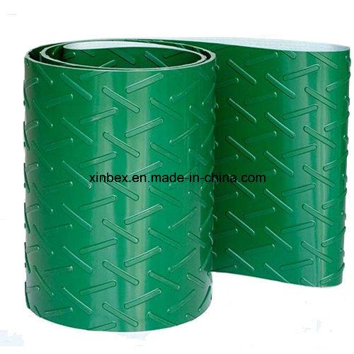 PVC Green Chevron/Herringbone Conveyor Belt