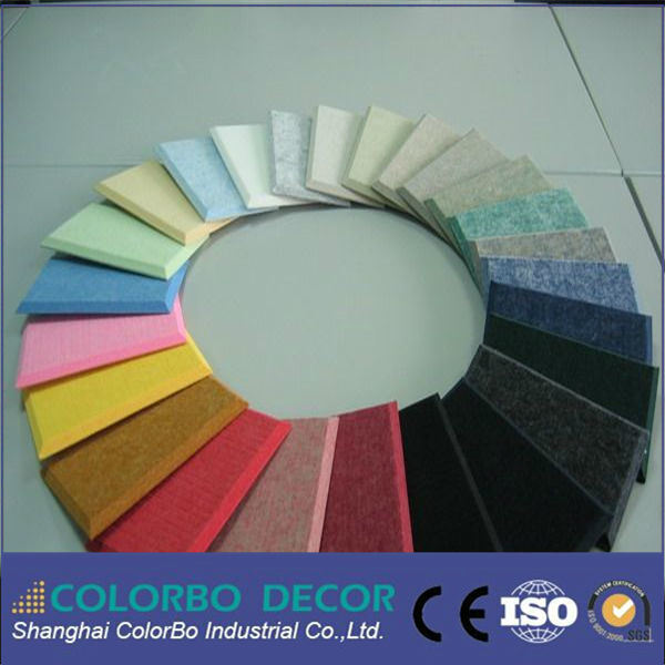 Studio Soundproof Polyester Decorative Ceiling Panels Board