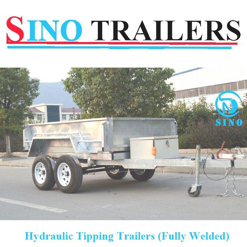 8X5 Hydraulic Tipping Box Trailer with Ramp