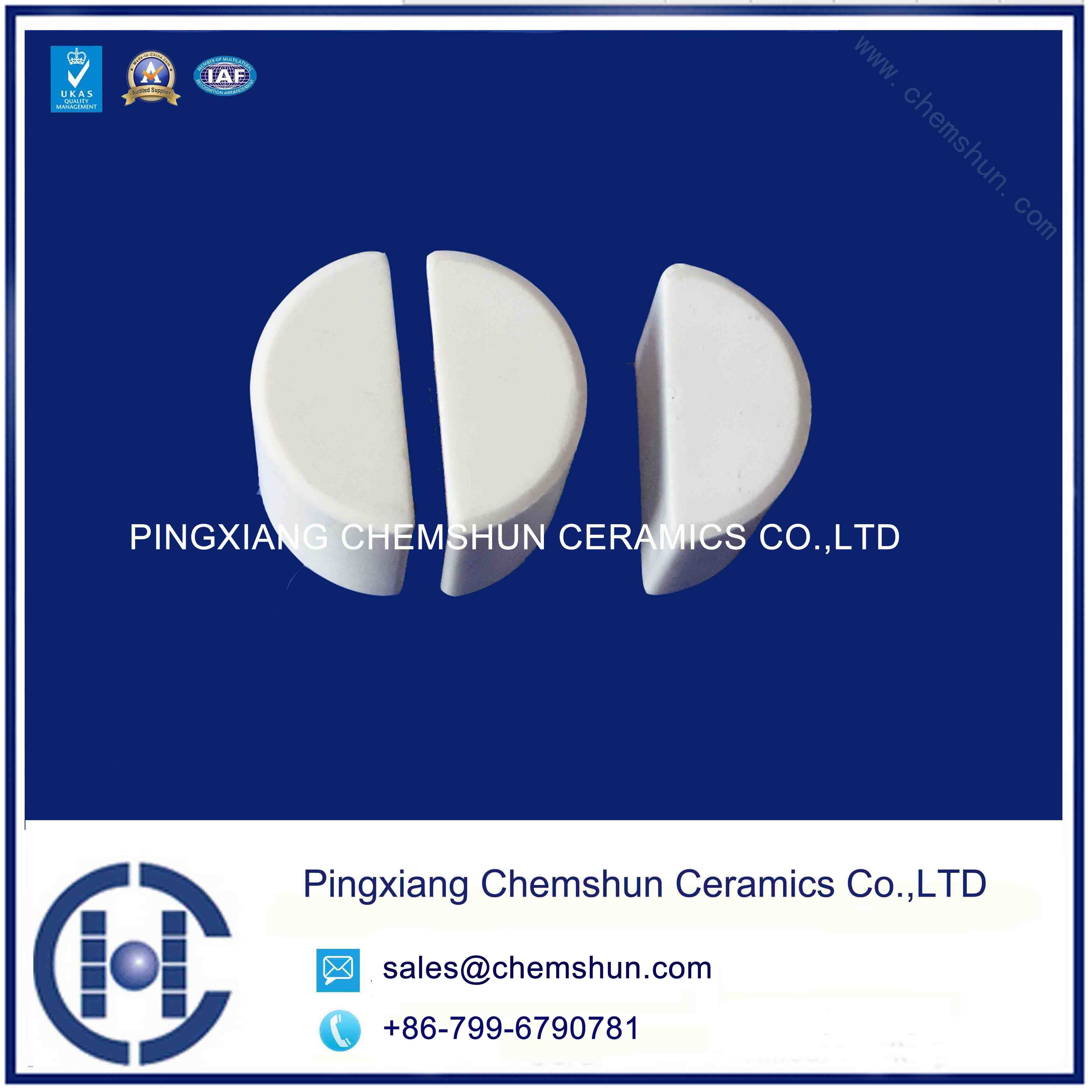 Chemshun Half Alumina Ceramic Cylinder for Rubber Ceramic Application Manufactueres