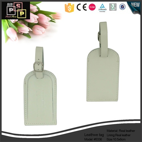China Supplier New Design Cheep Nice Custom Mini PU Leather Luggage Tag (1481)