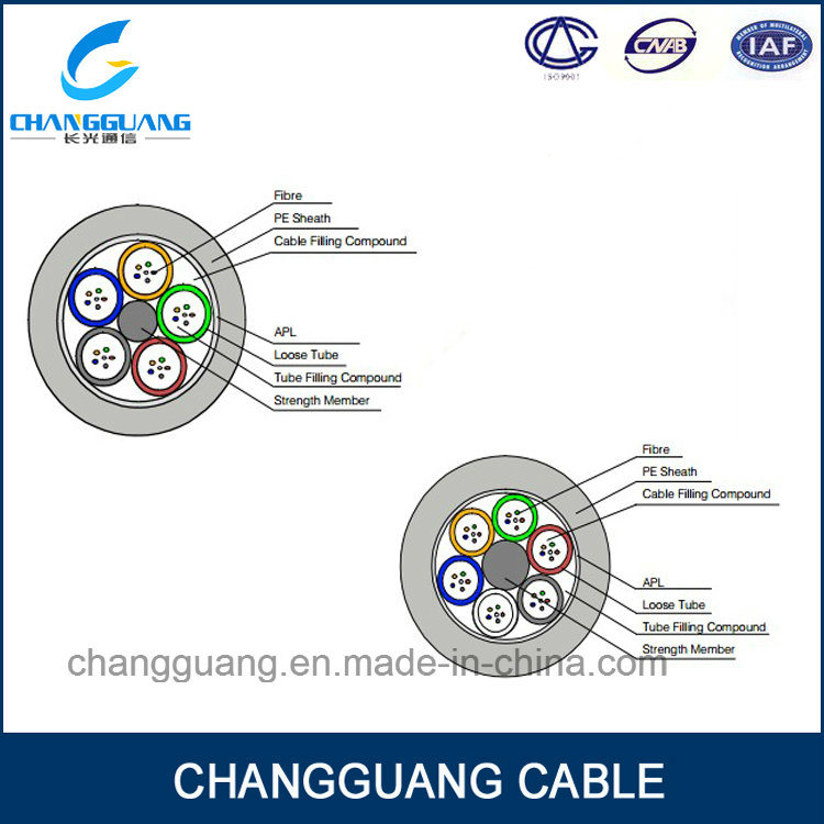 GYTA Multi Core Optical Fiber Cable Single-Mode Stranded Loose Tube Fiber Cable Steel Wire Strength Waterproof Outdoor Fiber Optic Cable