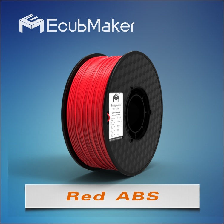 1.75mm ABS Filament for 3D Printer Red Color