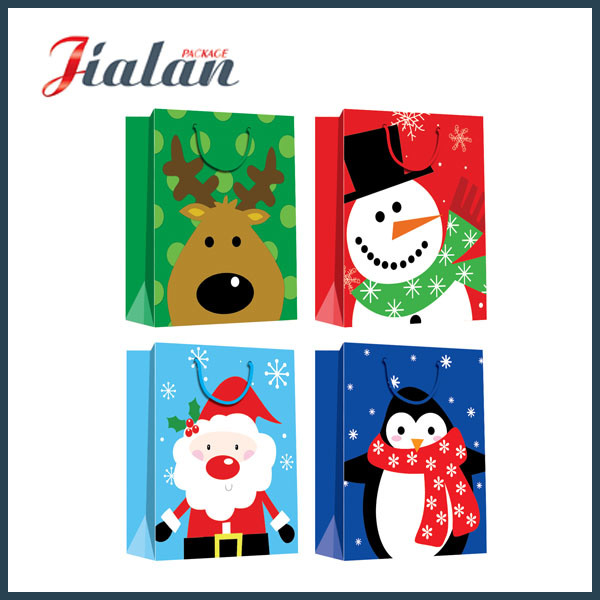 Fashion Cheap Custom Merry Christmas Wholesales Printed Paper Package Bag
