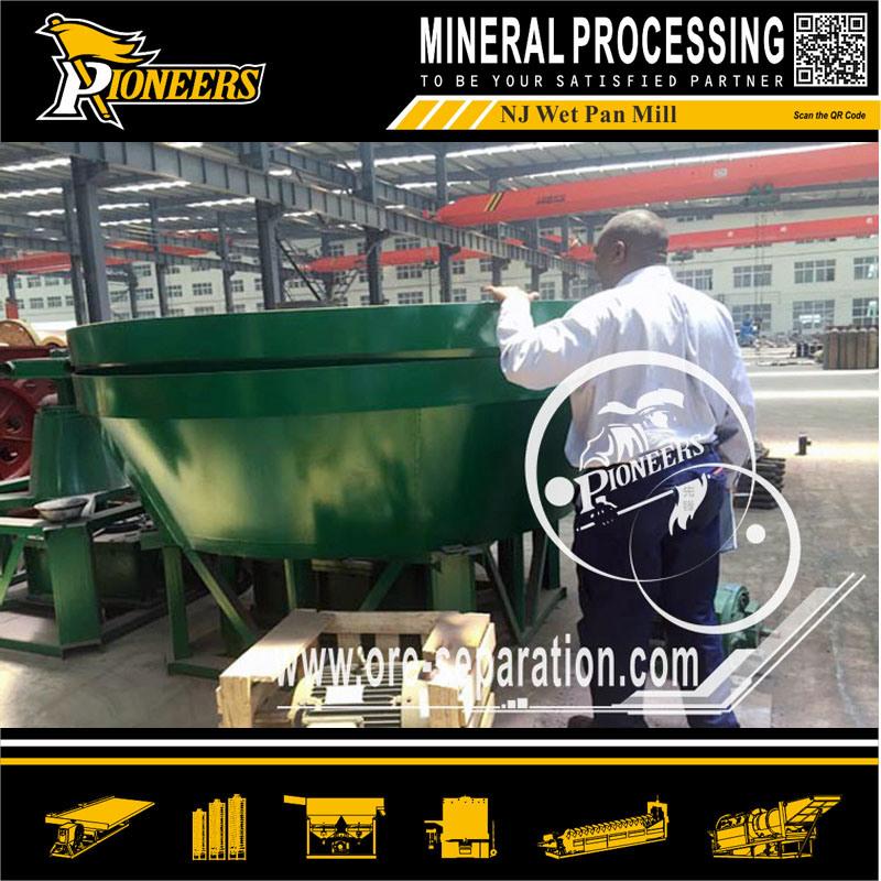 Rock Gold Grinding Wet Pan Mill Sudan Gold Miller Plant