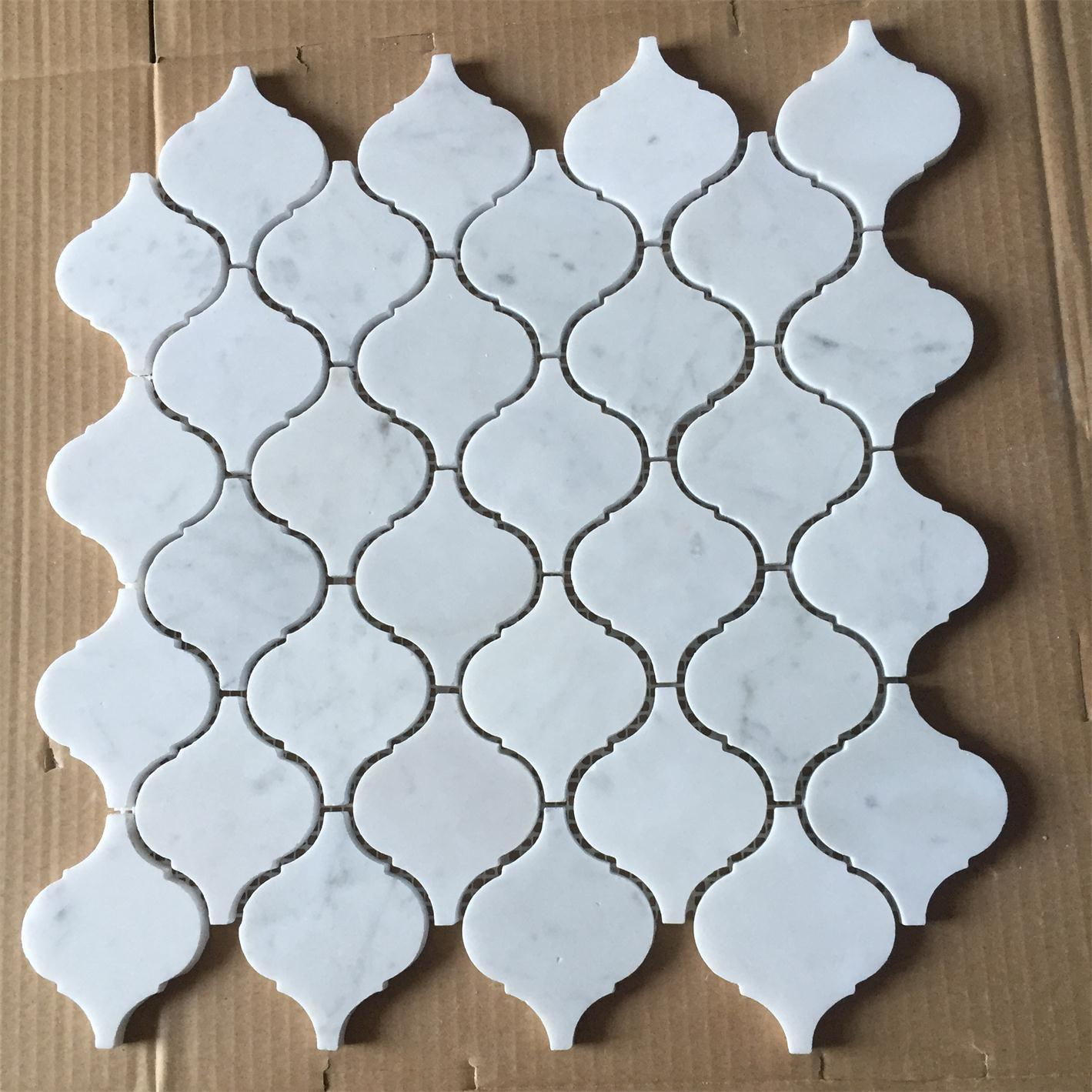 China Bianco Carrara White Marble Granite Stone Mosaic for Bathroom Wall