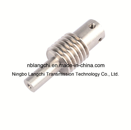 Transmission Customized Ss303 Screw Shaft Gear Worm by Cold Extrusion