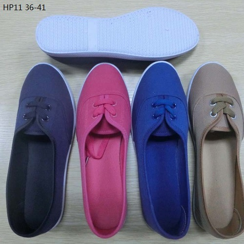 Latest Cheap Fashion Lady Casual Shoes Injection Canvas Shoes (HP11)