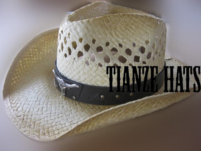 Handmade Paper Raffia Cowboy Hat