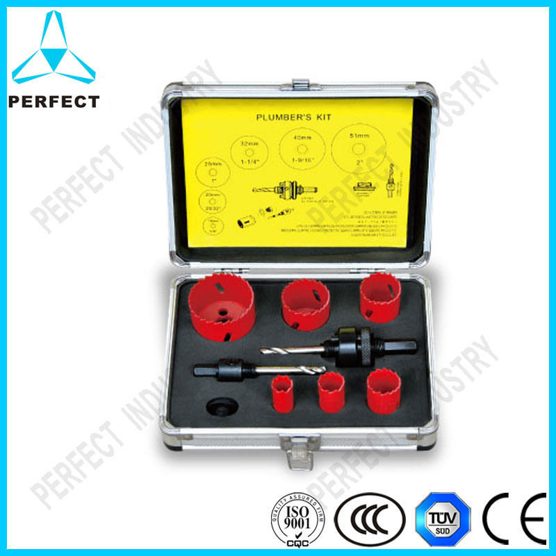 9PCS Bi-Metal Hole Saw Sets in Aluminum Case