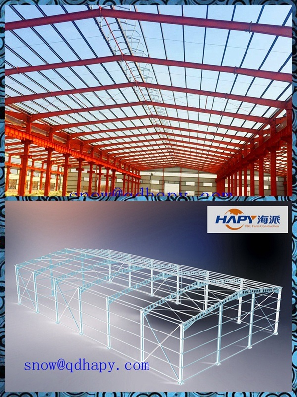 Prefab Steel Structure for Poultry Farming House with Modern Design