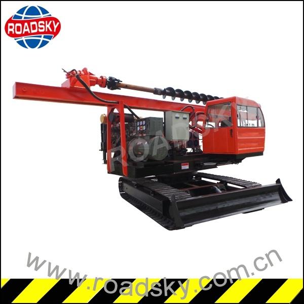 Hydraulic Solar Screw Drill Rig Machine for Farm Piling Work