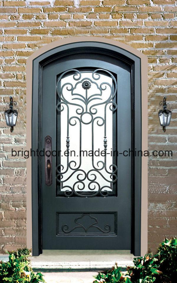 China Cheap Front Door Iron Wrought Main Gate Design