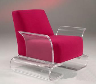 Antique High Transparent Acrylic Couch Chair Acrylic Furniture
