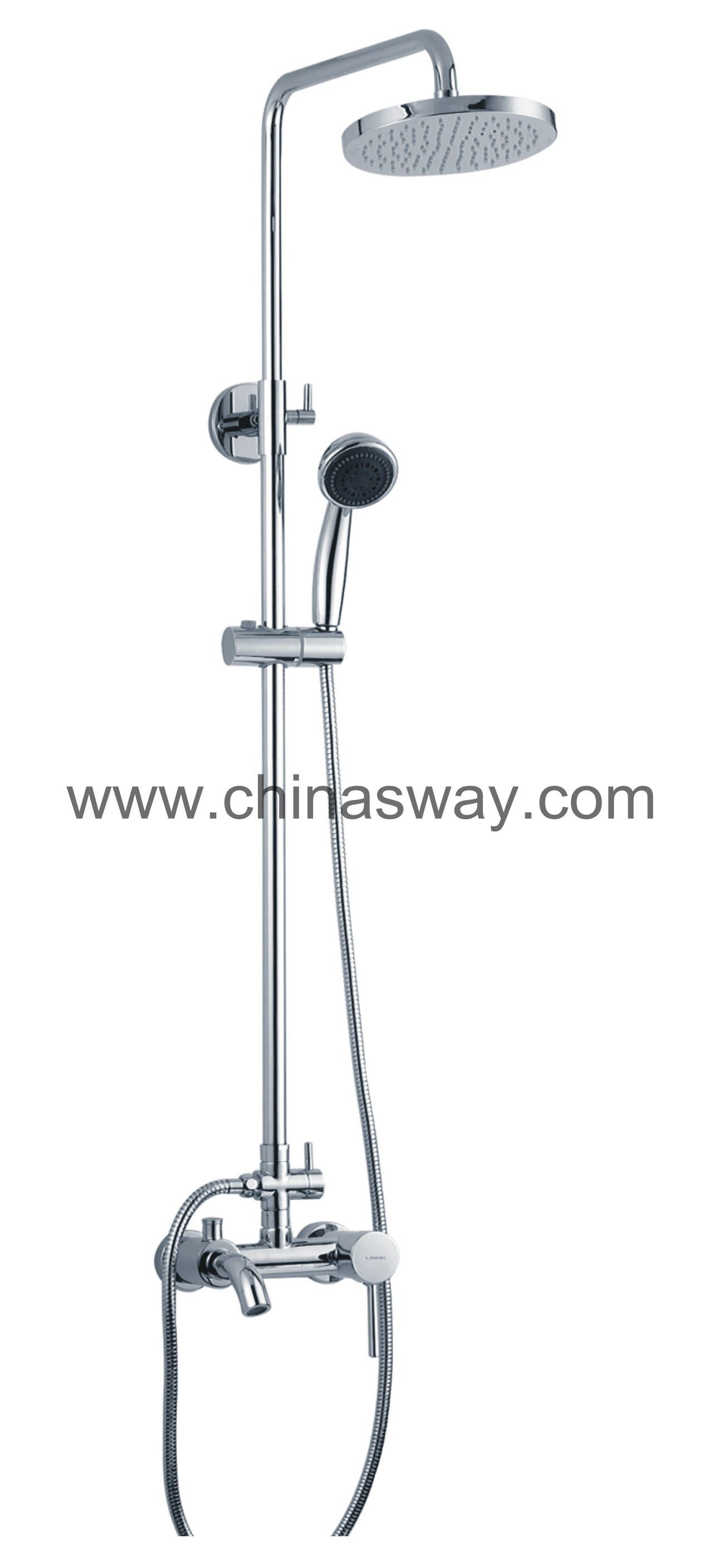 Round Shower Set, Shower Column, Shower Pipe, Bathroom Fitting (SW-1091-7)