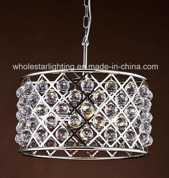 Metallic Clinder Chandelier with Crystal Balls (WHG-929)