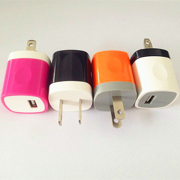 Low Price Fashionable Portable Travel Charger USB Wall Charger AC5V 1000mA Output for iPad