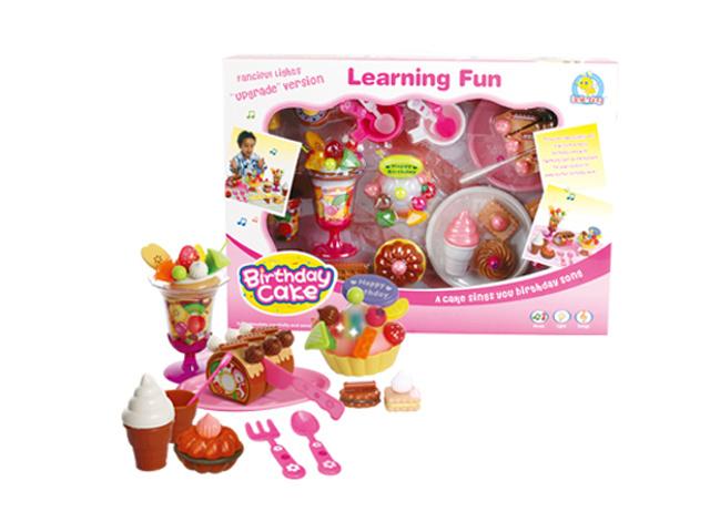 DIY Fruit Birthday Cake Toy Kids Kitchen Play Set (H0001189)