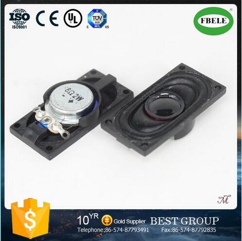 2015 New 8ohm 1W Square Fabric Cone Manual Mini Speaker for Computer