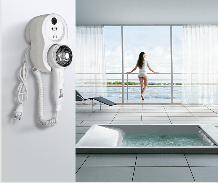 New Style ABS Bathroom Hotel Wall-Mounted Hair Dryer