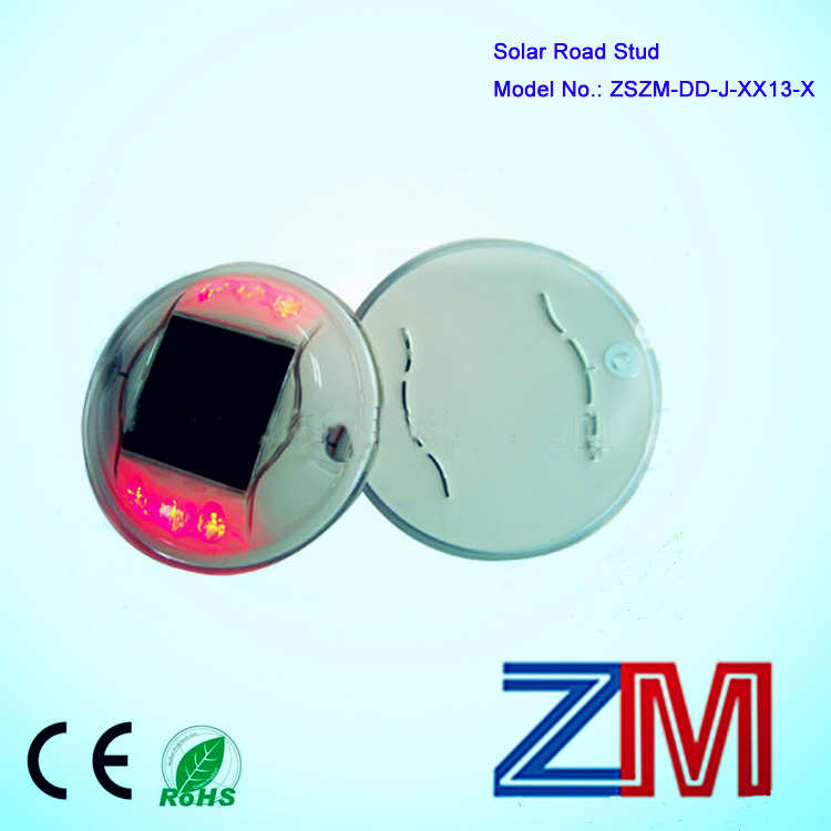 Round Shape Solar Road Stud / LED Flashing Road Marker / Cat Eye