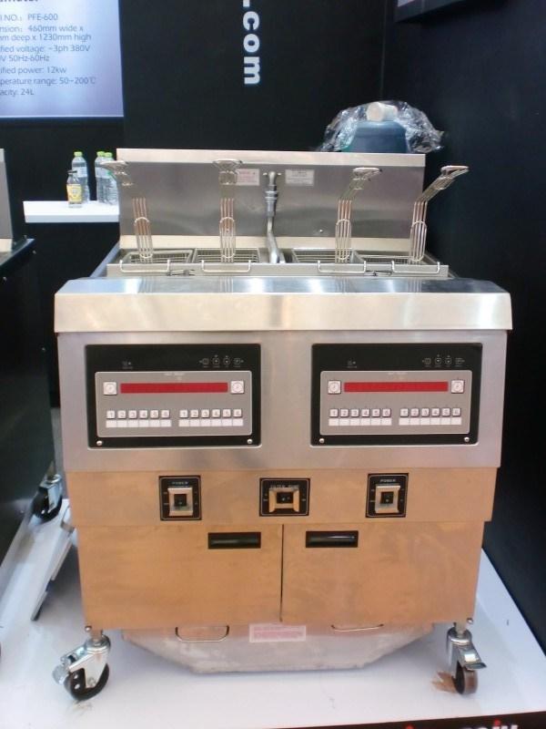 Double Tanks Electric Chips Fryer Open Fryer Fried Chicken Fryer