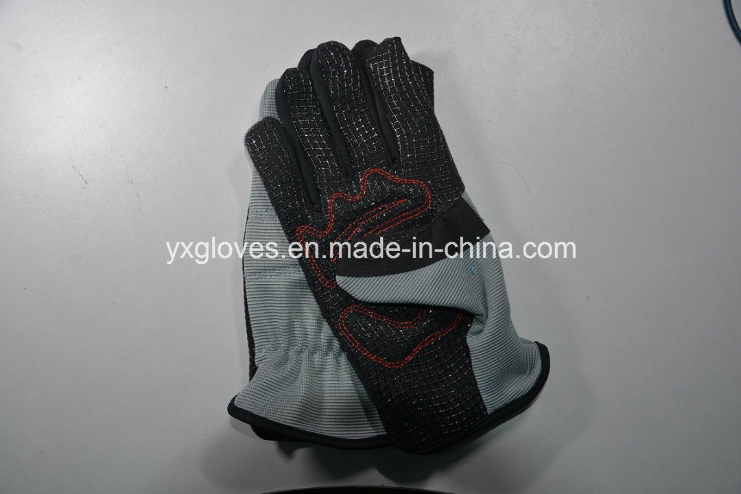 Mechanic Gloves-Silicon Gel Palm Glove-Work Glove-Hand Glove-Labor Glove-Safety Glove-Industrial Glove