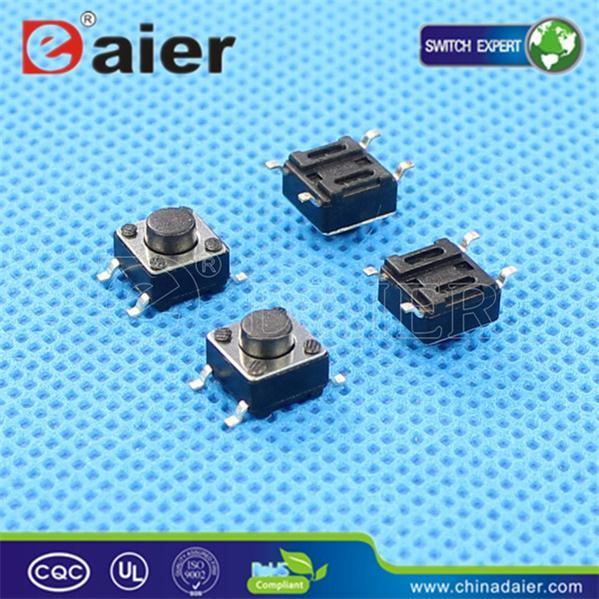 SGS 4pins SMD 6X6xh, Tactile Switch, Tact Switch (KFC-A06-HA)