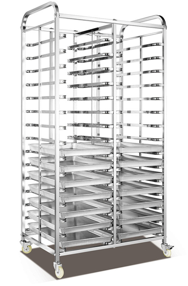 30tray Stainless Steel Bread Rack Trolley (30F)