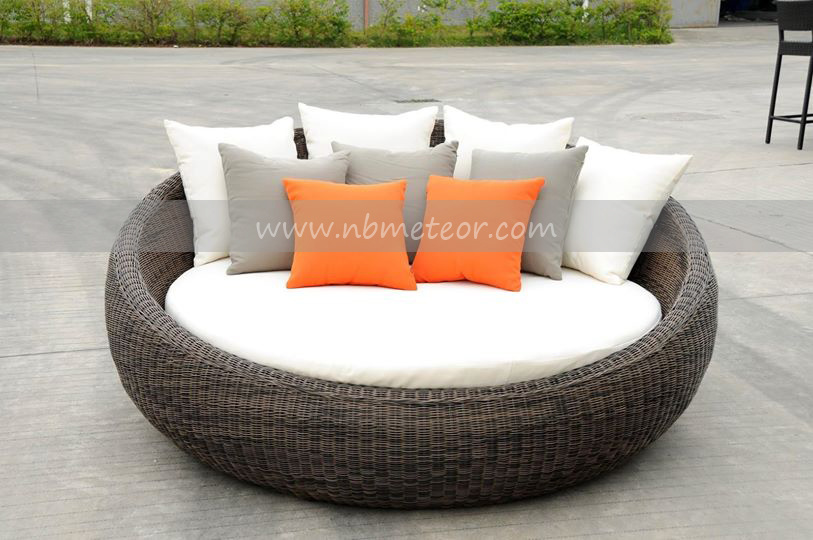 Mtc-110 Wicker Chairs Outdoor Rattan Lounge Daybed