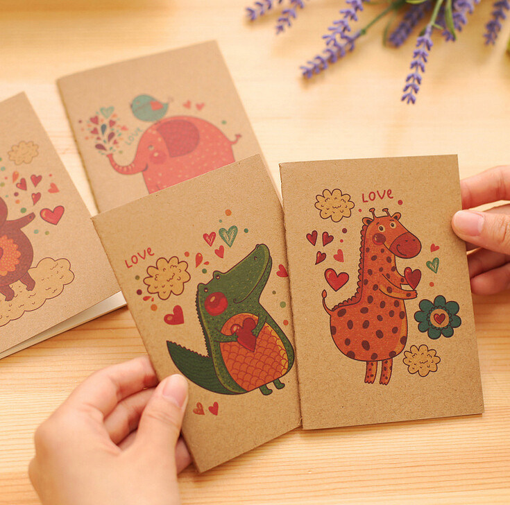 Cartoon Printing Kraft Paper Cover Exercise Books
