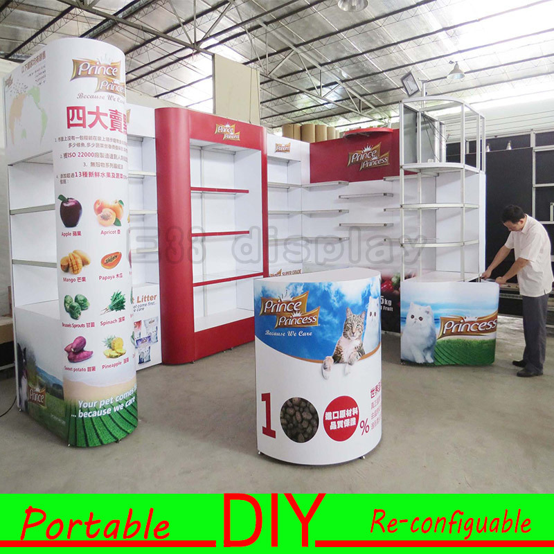 DIY! Modular Display Stand Installation, Trade Show Exhibition Booth