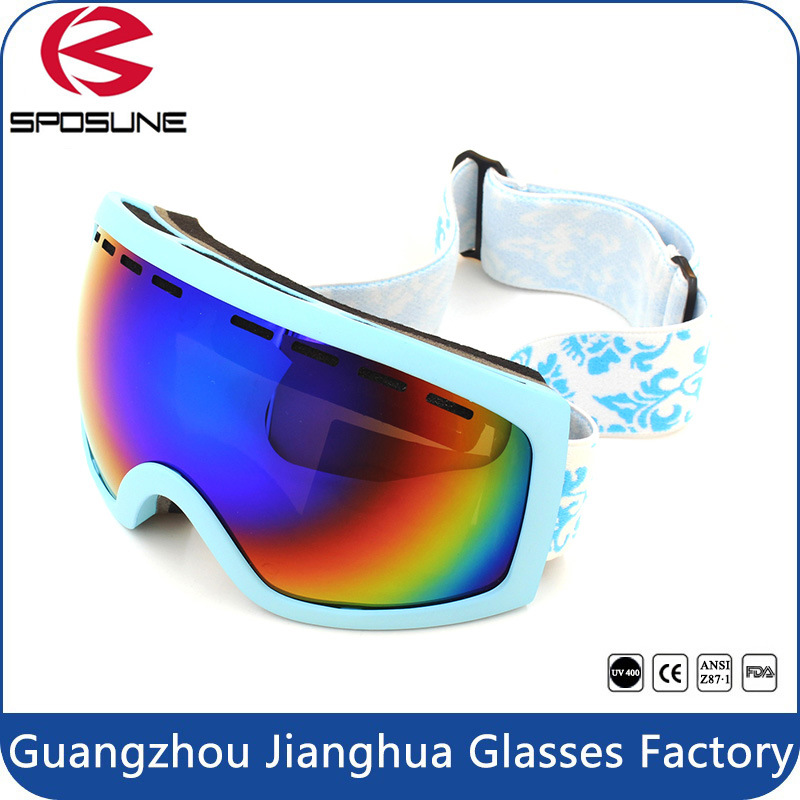 2017 New Men Dual Revo Lens Best Ski Goggles Black Frame Hot Popular Winter Sport Eyewear