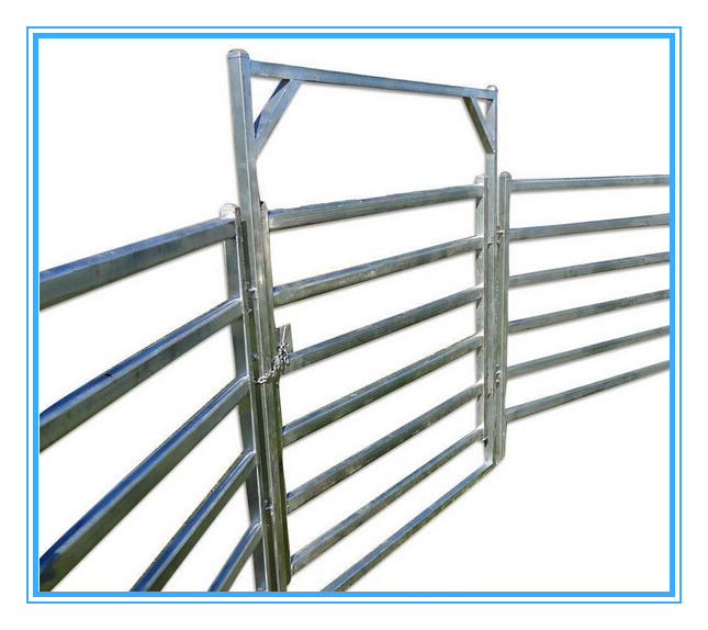 Hot Dipped Galvanized Corral Panels /Metal Livestock Farm Fence Gate