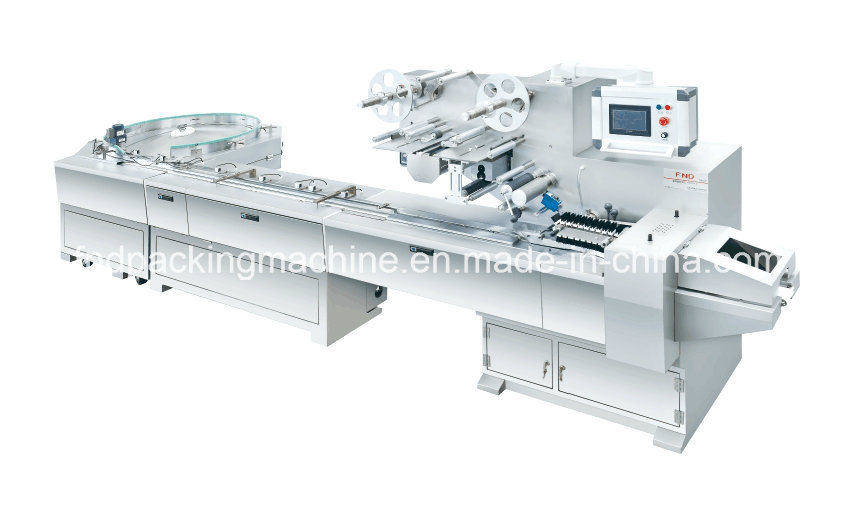 Automatic Turntable Feeding Flow Wrapping Line (FND-F550R)