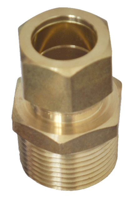 American Forged Brass Comp Male Connector Fitting with Nut