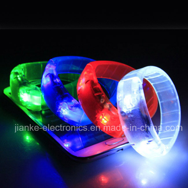 Hot Sale Glow Club LED Bracelets with Logo Printed (4011)