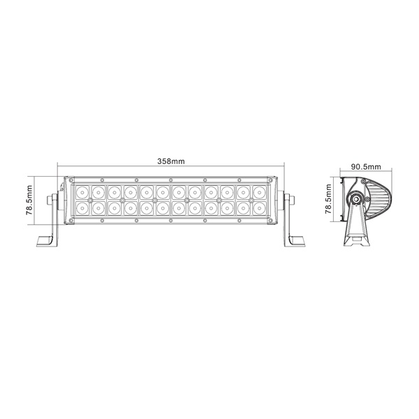 """13.5"""" 72W Curved off Road LED Light Bar with CREE LEDs (TLB3072X)"""