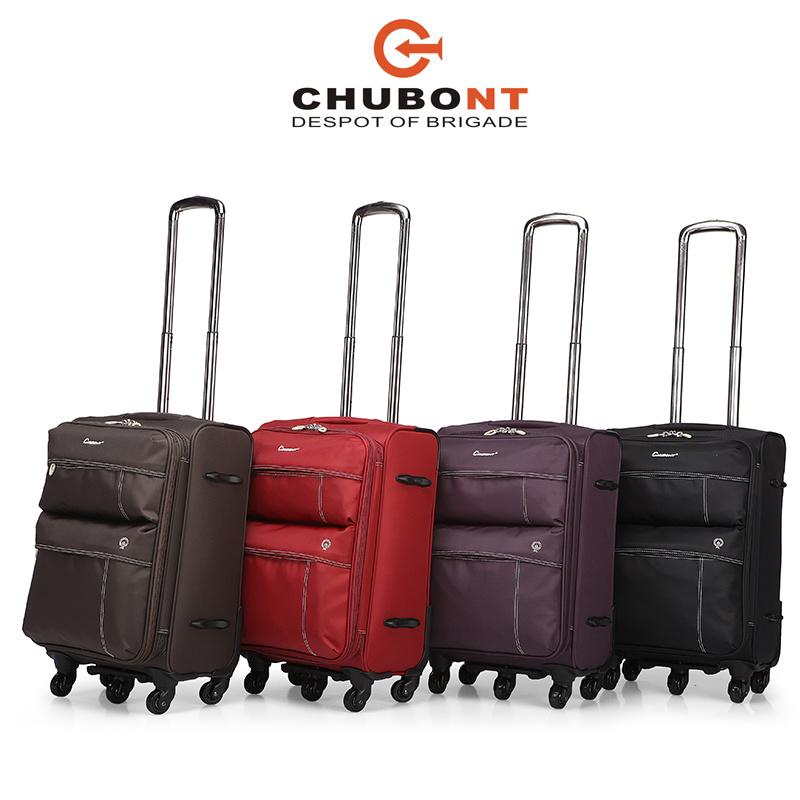 Chubont Waterproof Nylon Spinner Wheels Soft Travel Luggage